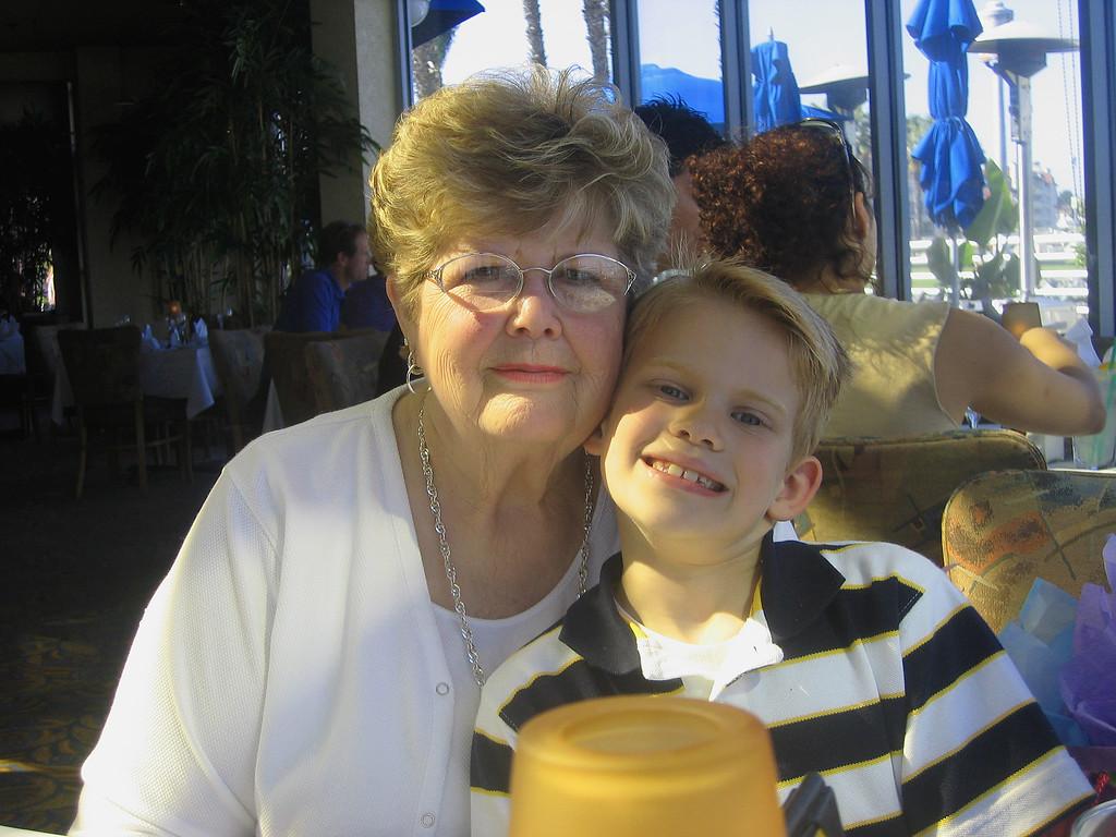 Devan and his grandma, Shirley, Feb. 2006