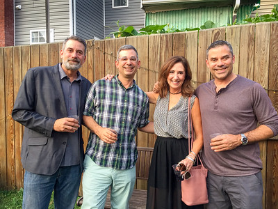 Linda with Justin, Andy and Michael Panson at Arsenal Cider House, Lawrenceville, PA.