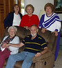 """The Fornel family at Thanksgiving in 2002.  My Mom, Carol, is in the back left, with my Aunt Marilyn in the middle and my Aunt Connie on the right.  My Grandmother, Faun, is seated with my Uncle, Leon, Jr. (""""Buddy"""")."""