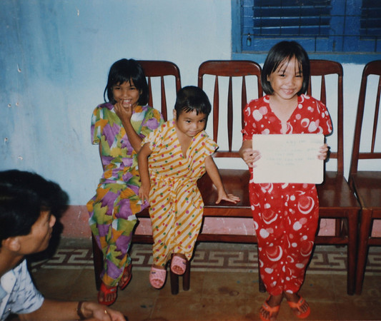 Photos of Vietnamese girls in an orphanage