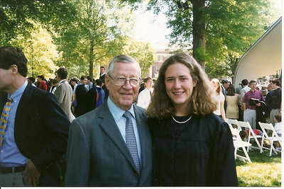 Anne Flinn with her Granddaddy at her graduation from Westminister School in Atlanta, GA