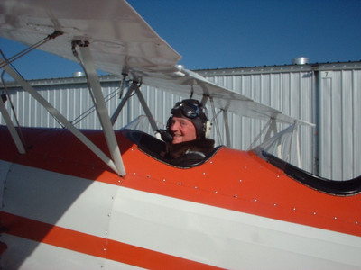Dad's flight in Great Lakes biplane, Watsonville Airport