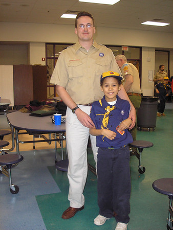 Edward IV attains his Wolf rank with help from his Dad as a scoutmaster