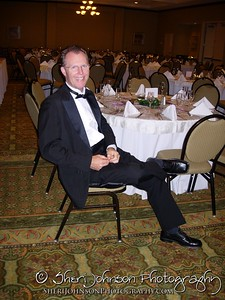 Why is this man all alone?  Because this is my husband... all dressed up and ready for the wedding reception to start.  We take pride in not just showing up in the nick of time, we love to be early, prepared and stress free......and knowing this will make you feel good too.  If you want to book a professional DJ for a wedding or event, go to http://www.america-dj.com to find out if he is available.