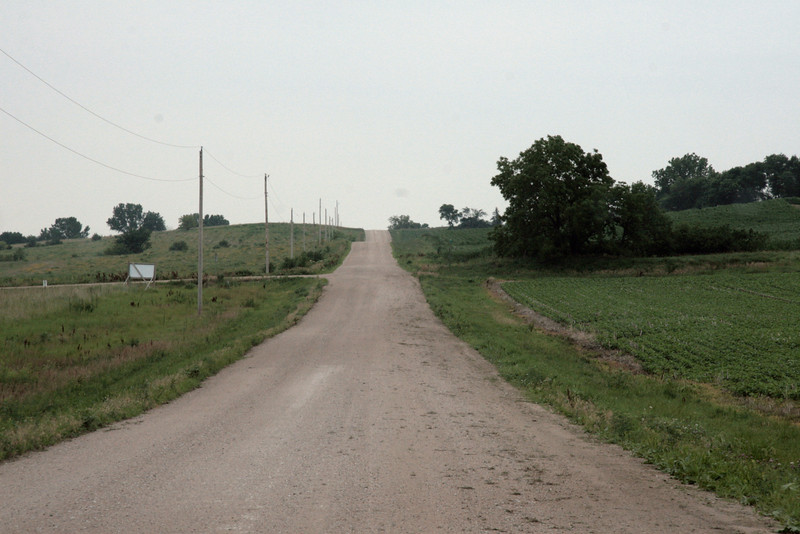 The road to town.