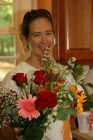 beautiful flowers/beautiful girl - Anne Flinn