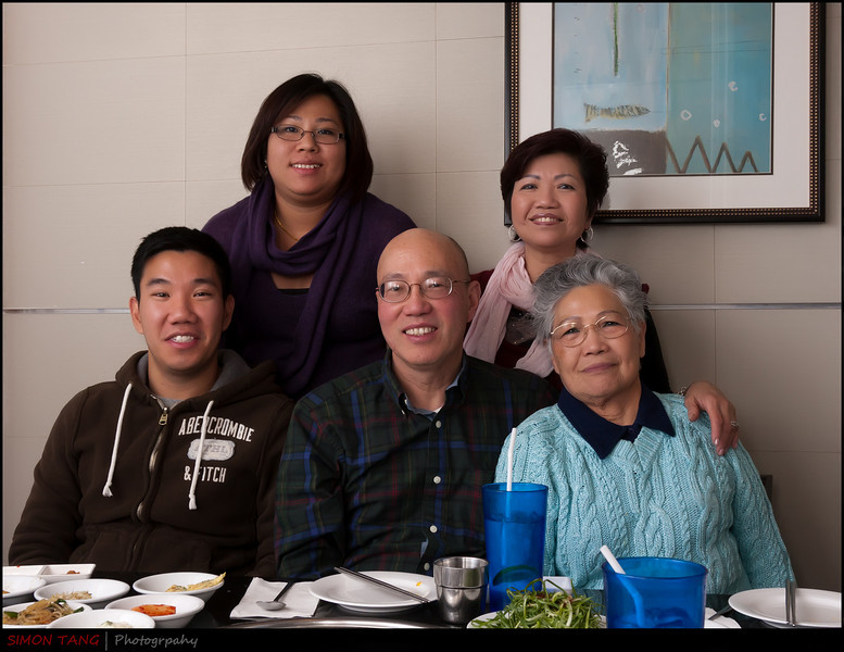 My family during New Years day dinner at Korean BBQ.