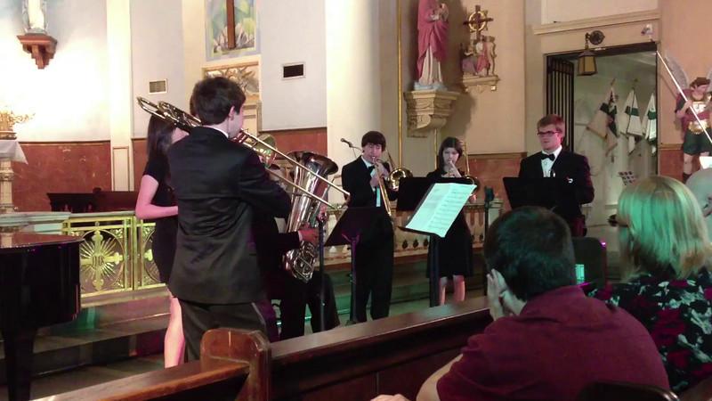 Brass Ensemble at French Quarter Fest - 1st song