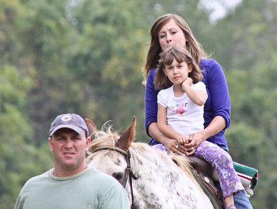 Allyson riding horse with Crystal