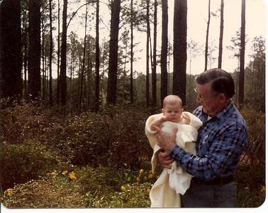 Granddaddy with baby Lauren