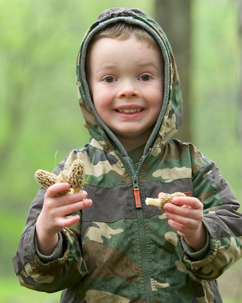 Jacob with some mushrooms in the spring of 2006.