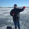 Ed ice fishing on White Bear Lake in Minnestora