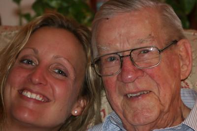 Caroline and her Granddaddy