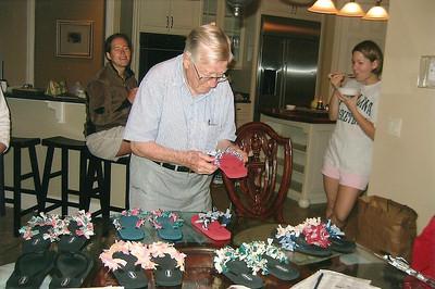 Daddy judging flip-flops at Hilton Head 2005 - I won!