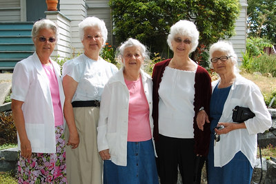 Mom and her four sisters. Ethel, Martha, Clarice, Jessie, and Maria.
