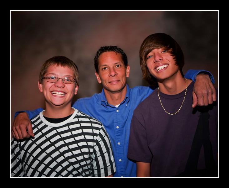 Brian and the boys - Christmas 2009