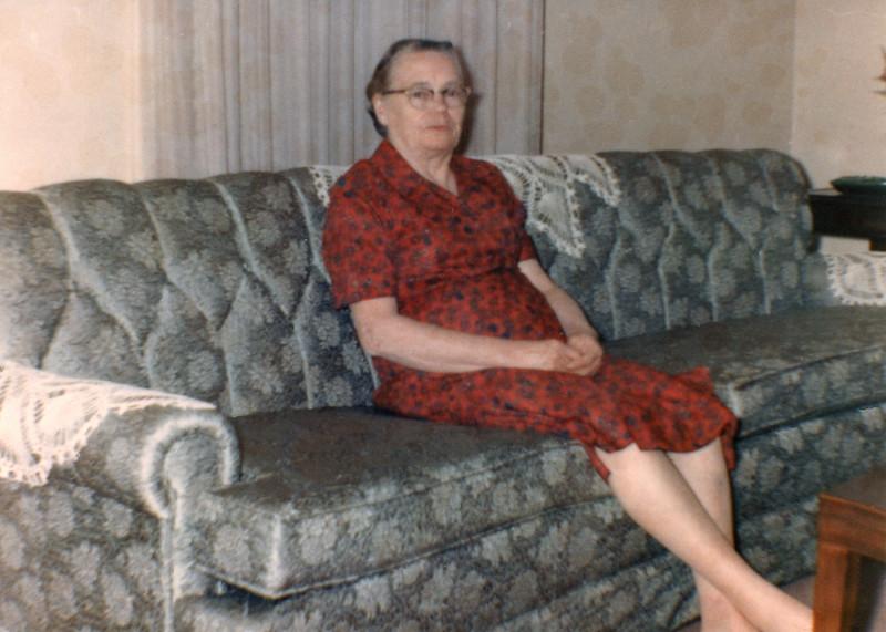 Grandma Austin at her house