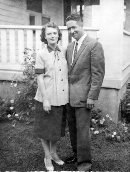 Mom and Dad at Gradma's house.