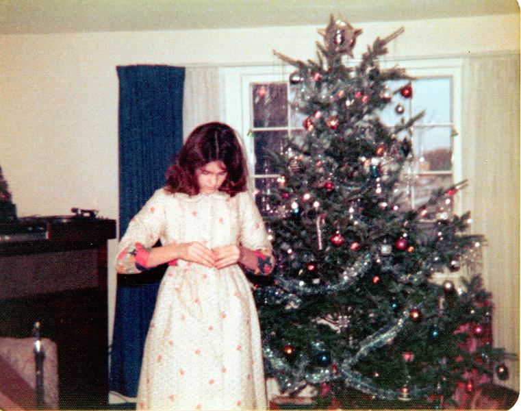 Susan at Christmas in Framingham, Mass