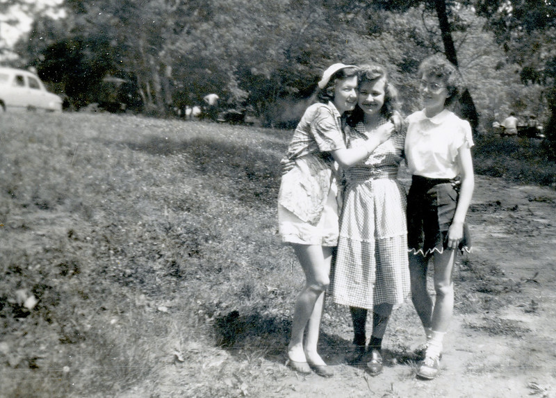 Mom and friends.  Mom is on the right.