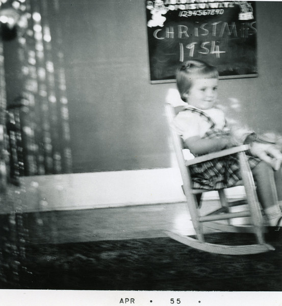 Debbie at Christmas 1954