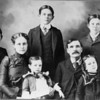 Patton family with Leslie L. center back circa 1901