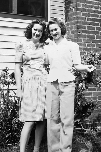 """""""Best Friends:"""" Donna Sinclair & Cherry Brady at Cherry's home on Division Street in Yakima"""
