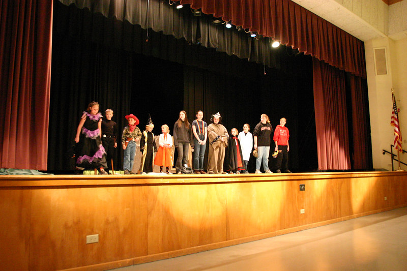 Jim Town Jumpers 4-H play.  Kids get<br />  the award for most creative.