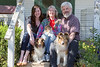 At Destiny Shelties, 5/18/13. Farley's mom at left, dad on right.