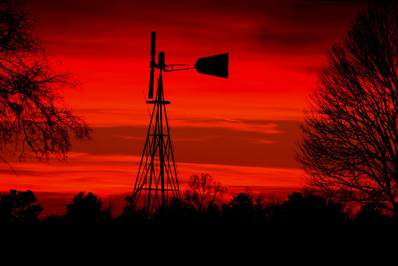 Sunset at the farm Dec 1st 2008