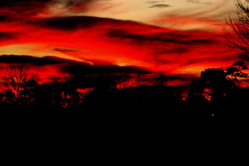 Taken 01/24/2010 By Clyde Kirbow. Sun Set