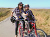 Ly and me on our cool red cruisers. Did I shrink during the ride? I must shrink whenever I do some outdoor activity!