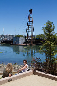The bocce ball court was occasionally popular.  I liked the moorings nearby.