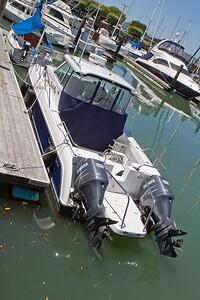 I hope this boat had big gas tanks.