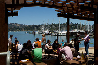 We had a great lunch, right on the beach (who knew there was a beach in Sausalito?).