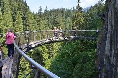 Capilano Suspension bridge park in Vancouver BC on June 31, 2014