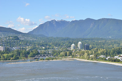 Part of North Vancouver.  In distance can see gondola to top of mountain peak.