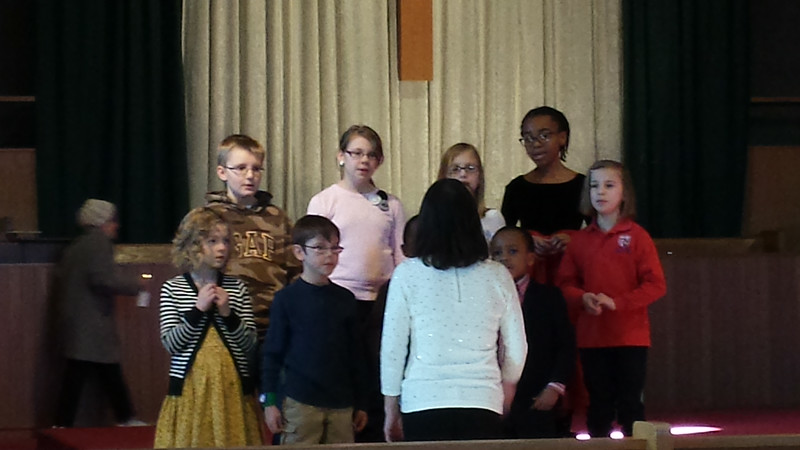 Kids choir at St. Margaret Mary's