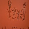 Lila did a quick drawing of the four of us for Grandpa's 85th birthday card. Happy Birthday, Grandpa Leonard!