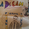 Lila's MLK Jr. Day poster, 5th grade, age 10.5.