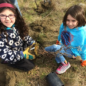 Hannah & Juliet planting