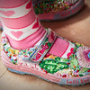 Cute kid shot -- Cid doesn't have these pricey sneaks, but some of her friends do. Lelli Kelly's are all the rage!