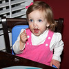 Neighbor Lil enjoyed some chocolate cupcake.