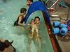 under the bridge at swim class...