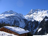 Top of Sainte Foy cabins and mountains