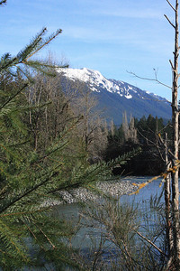 Snoqualmie River and Cascade Mountains
