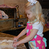 I rolled the dough just like mommy with our matching rolling pins and mats.