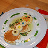 Special snowman pancakes...yummy!