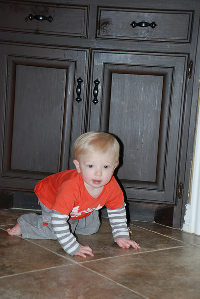 For the best past month Brady has been regular crawling, but still loves the army crawl when he wantst to get somewhere fast!