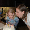 Of course Hallie wanted to help blow out the candles!